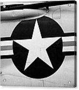 Usaf Star And Bars Insignia On A Mcdonnell F3b F3 Demon  Acrylic Print