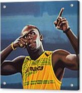 Usain Bolt Painting Acrylic Print