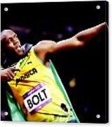 Usain Bolt Sweet Victory II Acrylic Print