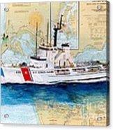 Uscg Alert Coast Guard Chart Map Art Peek Acrylic Print