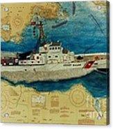 Uscg Cuttyhunk Nautical Chart Art Peek Acrylic Print
