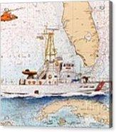 Uscg Sapelo Helicopter Fl Nautical Chart Map Art Peek Acrylic Print