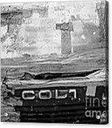 Used Car Abstract V Acrylic Print by Dean Harte