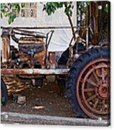 Used Tractor Acrylic Print