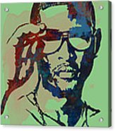 Usher Raymond Iv  - Stylised Pop Art Sketch Poster Acrylic Print