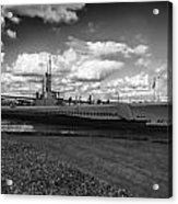 Uss Bowfin-black And White Acrylic Print