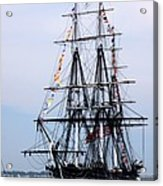 Uss Constitution Acrylic Print by Nancy A Santry