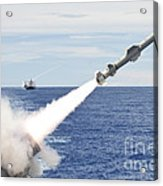 Uss Cowpens Launches A Harpoon Missile Acrylic Print