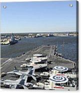Uss Enterprise Arrives At Naval Station Acrylic Print by Stocktrek Images