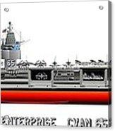 Uss Enterprise Cvn 65 1969 Acrylic Print by George Bieda