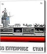 Uss Enterprise Cvn 65 1971-73 Acrylic Print by George Bieda