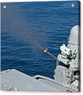 Uss Harry S. Truman Tests The Close-in Acrylic Print