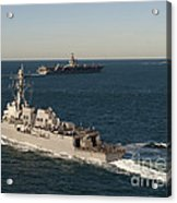 Uss James E. Williams Is Underway Acrylic Print by Stocktrek Images