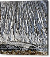 Utah Copper Mine Tailings Pile In Winter Acrylic Print