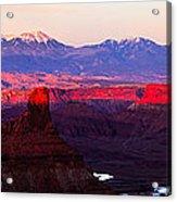 Utah Desert Sunset Panorama Acrylic Print