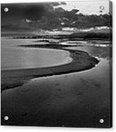 Utah Lake Shoreline In Monochrome Acrylic Print