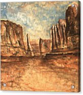 Utah Red Rocks - Landscape Art Acrylic Print