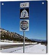 Utah Scenic Highway 12 In Snow Acrylic Print