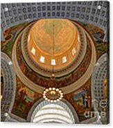 Utah State Capitol Rotunda Interior Archways Acrylic Print by Gary Whitton
