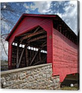 Utica Mills Covered Bridge Acrylic Print