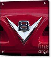 V Eight Red Acrylic Print