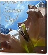V Glorious Day Words Acrylic Print