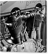 V-twin Engine Acrylic Print