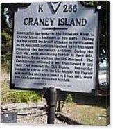 Va-k266 Craney Island Acrylic Print