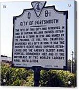 Va-q8i City Of Portsmouth Acrylic Print