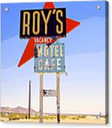 Vacancy Route 66 Acrylic Print