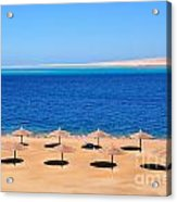 Parasol At Red Sea,egypt Acrylic Print