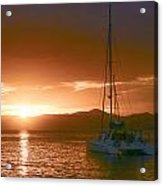 Vacation Sunset Acrylic Print by    Michael Glenn