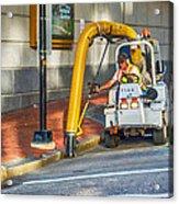 Vacuuming The Sidewalk Acrylic Print