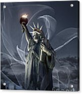 Light Of Liberty Acrylic Print