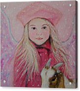 Valentina Little Angel Of Perseverance And Prosperity Acrylic Print by The Art With A Heart By Charlotte Phillips