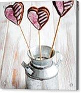 Valentine Cookie Pops Acrylic Print