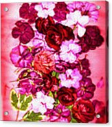 Valentine Flowers For You Acrylic Print