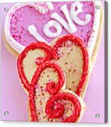 Valentine Hearts Acrylic Print
