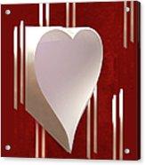 Valentine Paper Heart Acrylic Print