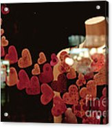 Valentine Window Display Acrylic Print