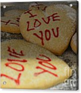 Valentine Wishes And Cookies Acrylic Print