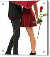 Valentines Couple Acrylic Print by Carlos Caetano
