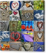 Valentine's Day - Hearts For Sale Acrylic Print