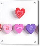 Valentine's Day Hearts Acrylic Print