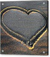 Valentine's Day - Sand Heart Acrylic Print