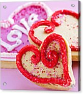 Valentines Hearts Acrylic Print by Elena Elisseeva