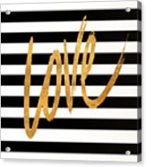 Valentines Stripes Iv Acrylic Print