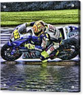Valentino Rossi At Indy Acrylic Print