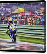 Valentino Rossi Fans Line The Fence Acrylic Print