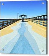 Valero Beach Fishing Pier Acrylic Print